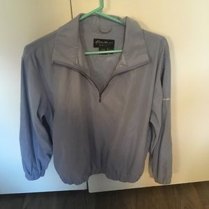 Eddie Bauer Dusty Blue Golf Wind Shirt